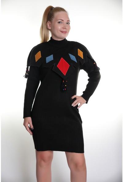 Kerem Bayan Triko Elbise Çelik Örgü Elişi 602