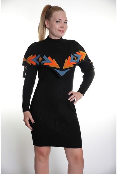 Kerem Bayan Triko Elbise Çelik Örgü Elişi 603