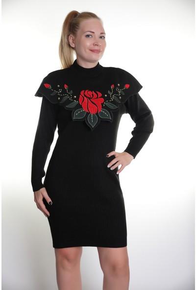 Kerem Bayan Triko Elbise Çelik Örgü Elişi 605
