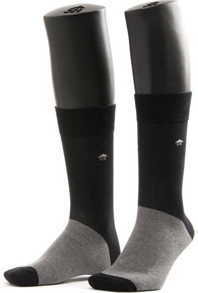 The Socks House Gri Siyah Erkek Çorap
