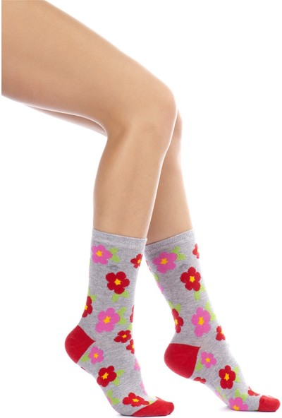 The Socks House Çiçek Desenli Çorap