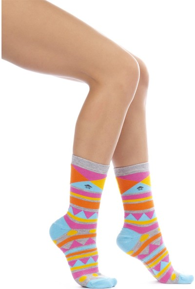 The Socks House Geometrik Desenli Çorap