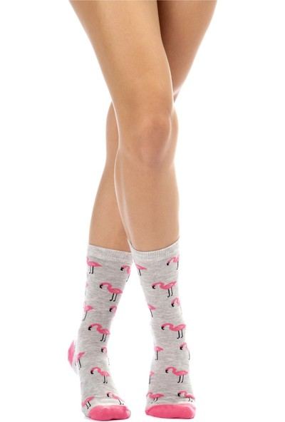 The Socks House Flamingo Desenli Çorap