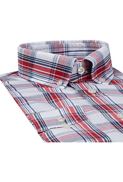 D's Damat Regular Fit Kırmızı Gömlek