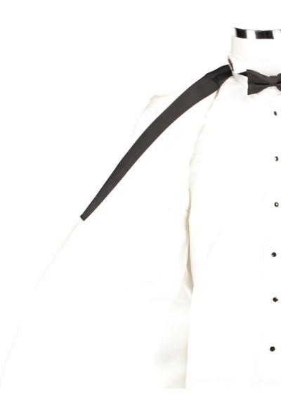 D's Damat Slım Fıt Beyaz Takım Elbise