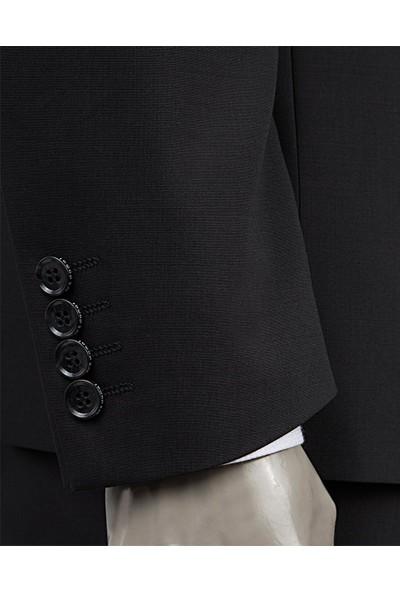 D's Damat Regular Fit Siyah Takım Elbise