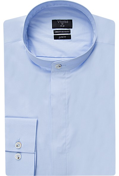 Tween Slim Fit Mavi Gömlek