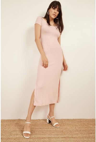 Lafaba Kadın Pudra Kaşkorse Elbise