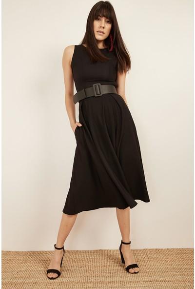 Lafaba Kadın Siyah Kolsuz Elbise