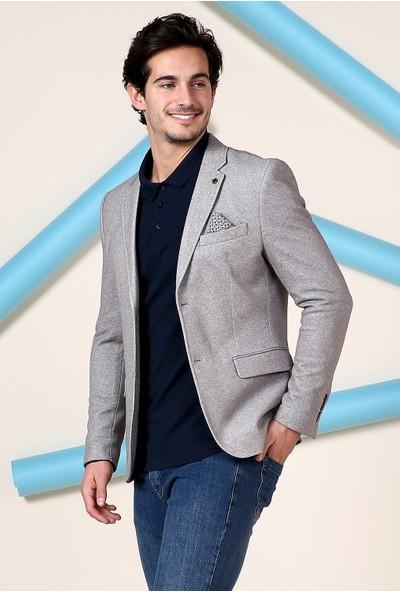 Defacto Erkek Mendil Detaylı Modern Fit Blazer Ceket