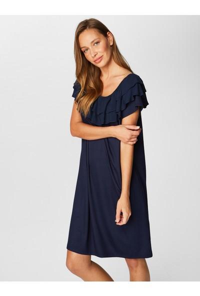 Faik Sönmez Volanlı Elbise 38334