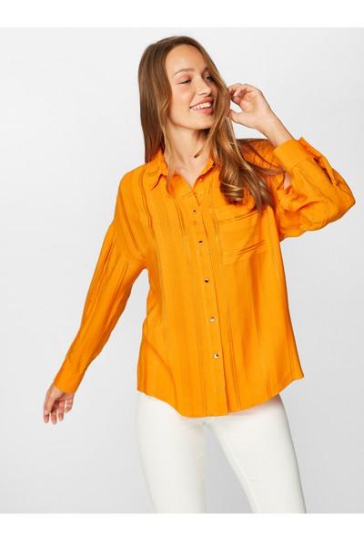 Faik Sönmez Kol Detaylı Çizgili Jakarlı Gömlek 38387