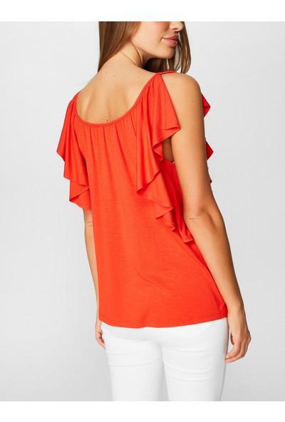 Faik Sönmez Volanlı T-shirt 38788