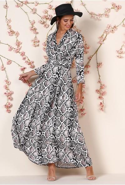 Koton Desenli Elbise
