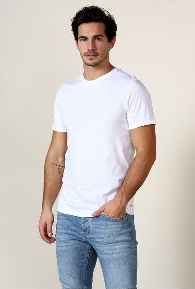 Jack & Jones Tişört Jjeplain Ss O Neck 12136712-Wht