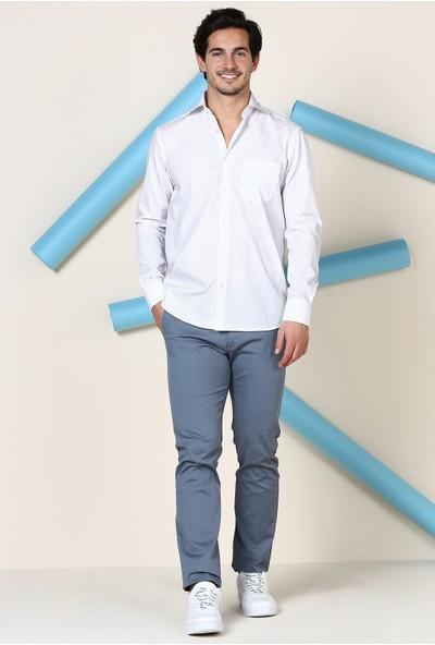 İmza Comfort Fit Düz Uzun Kol Gömlek