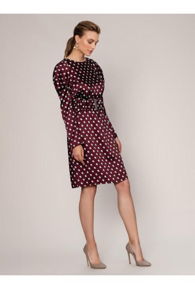 Roman Puantiyeli Elbise