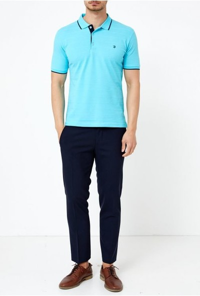 Adze Aqua Yeşil Erkek Slim Fit Polo Yaka T-Shirt