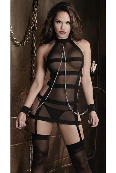 Bacio Fantazi Kelepçeli Seksi Jartiyer Takım İç Giyim