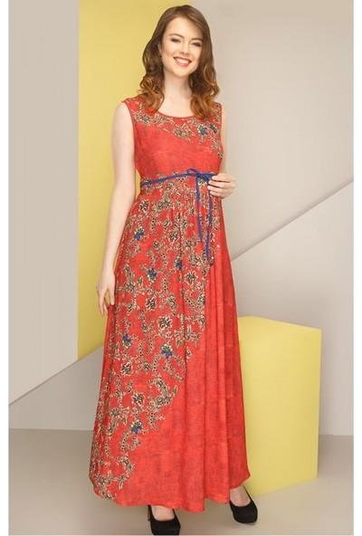 Işşıl Hamile Çiçek Baskı Jile Elbise