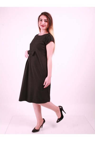 Işşıl Hamile Fiyonklu Mini Elbise