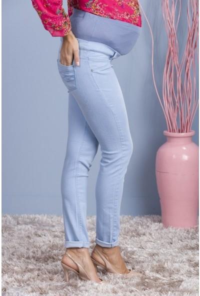 Işşıl Hamile Giyim Çift Yan Cep Dar Paça Kot Pantolon