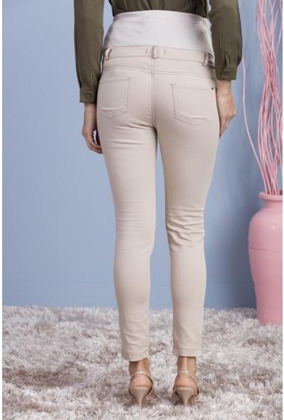 Işşıl Hamile Giyim Fermuar Paça Pamuk Gabardin Pantolon