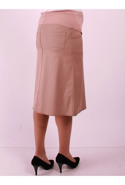 Işşıl Hamile Giyim Pileli Kısa Etek
