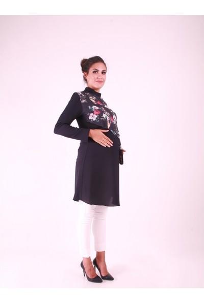Işşıl Hamile Giyim Üst Dantel Tunik
