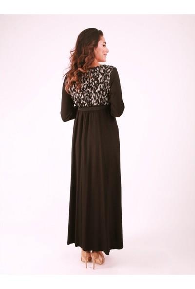 Işşıl Hamile Kabartma Desenli Puanlı Elbise