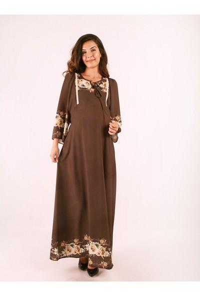 Işşıl Hamile Sarmaşık Gül Elbise