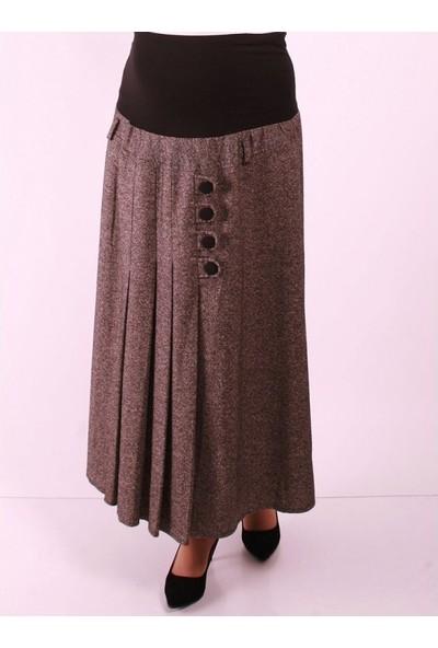 Işşıl Tivit İpekli Hamile Giyim Düğmeli Etek