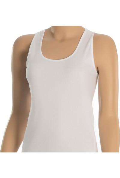 Öts İç Giyim Likralı Badi Geniş Askı Atlet Beyaz