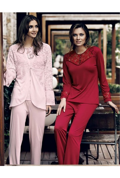 Miss Carmen Lohusa-Hamile 3'Lü Penye Pijama Takımı Pr3010