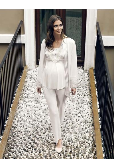 Miss Carmen Lohusa-Hamile 3'Lü Penye Pijama Takımı Pr3080