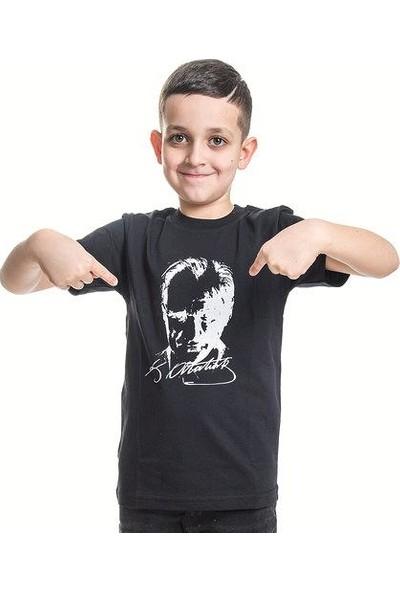 Bebebebek Atatürk T-Shirt Siyah Kız/Erkek 2-12 Yaş