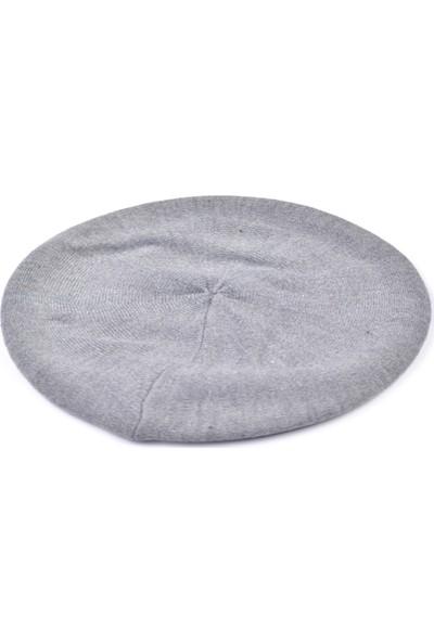 Labalaba Kadın Beret Model Gri Şapka