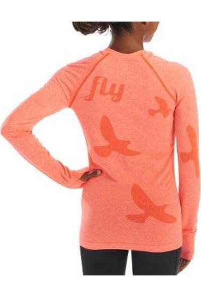 Oiselle Flyte Long Sleeve Kadın Body Turuncu