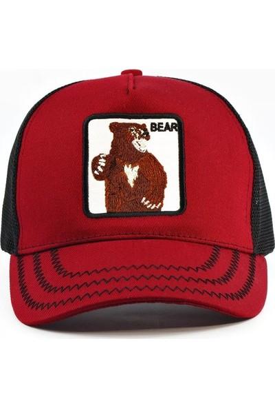 Tek Bear Ayı Şapka Bordo Renk Animal Farm Şapka