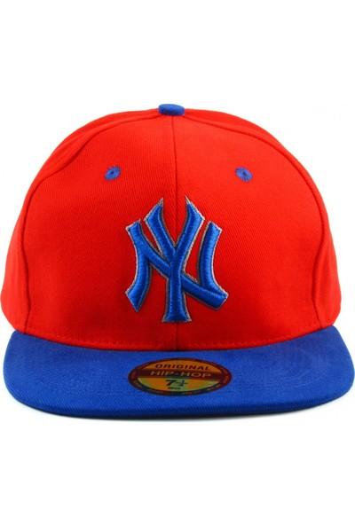 Tek Ny Cap Şapka Kırmızı Saks Mavi Şapkası