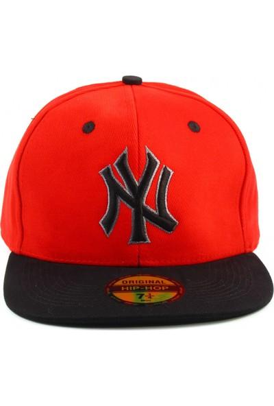 Tek Ny Cap Şapka Kırmızı Siyah