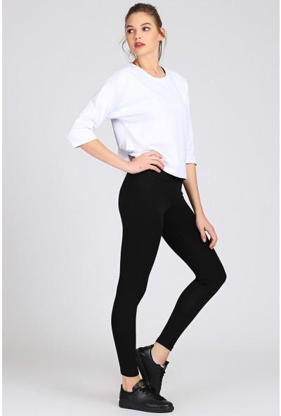 Tommy Life Kadın Klasik Siyah Pantolon Tayt