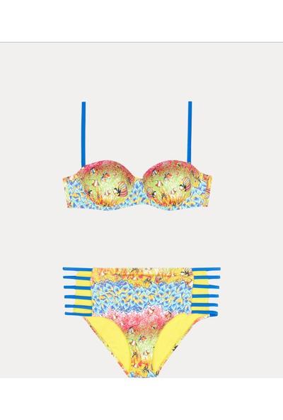 Bonesta Swimwear - Askılı Yüksek Bel bikini