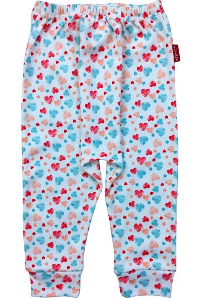 By Leyal For Kids Kız Bebek Kalpli Penye Pantolon