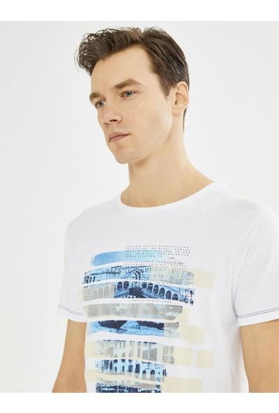 Xint Mcl Bisiklet Yaka Baskılı T-Shirt