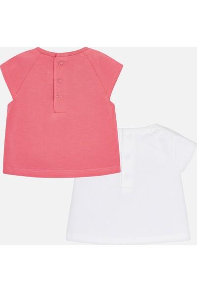 Mayoral Kız Bebek Yenidoğan 2 Li T-Shirt Set