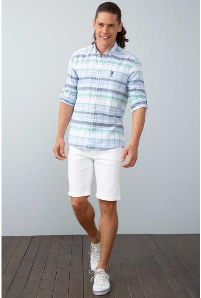 U.S. Polo Assn. Erkek Dokuma Gömlek 50199365-Vr036