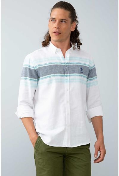 U.S. Polo Assn. Erkek Dokuma Gömlek 50199378-Vr007