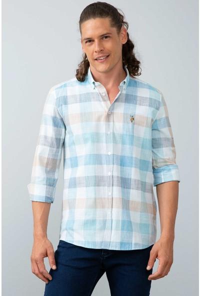 U.S. Polo Assn. Erkek Dokuma Gömlek 50199870-Vr036