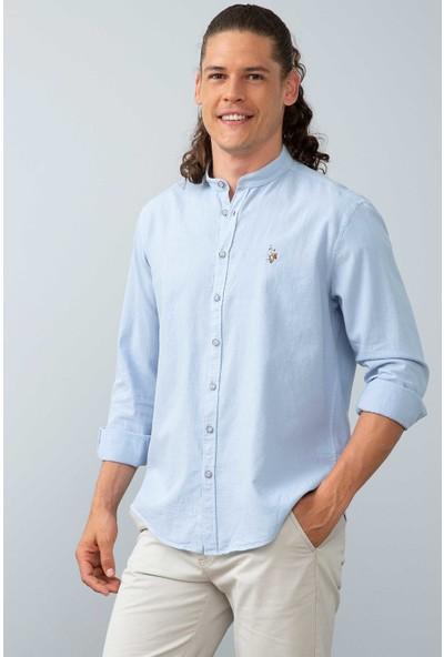 U.S. Polo Assn. Erkek Dokuma Gömlek 50201928-Vr003